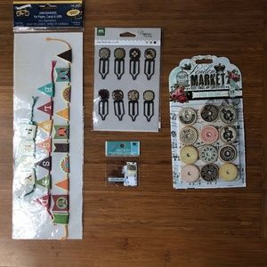 Miscellaneous crafting/scrapbooking supplies